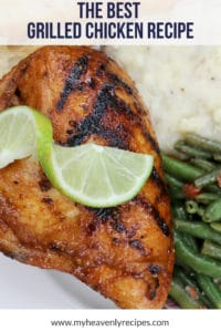 close up shot of the best grilled chicken recipe with lime