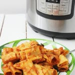 ziti in front of an Instant Pot