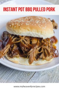 Instant Pot pulled pork sandwich