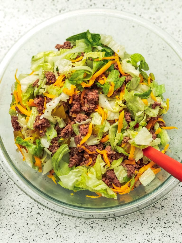 low carb big mac salad