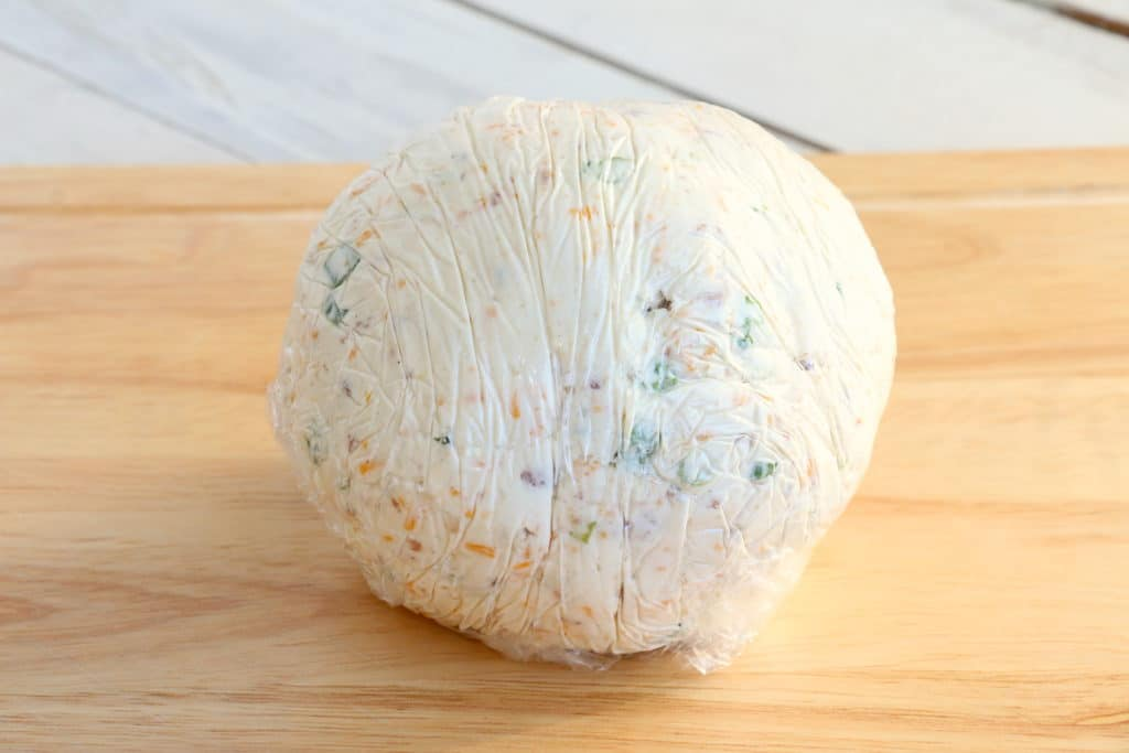 cheese ball in plastic