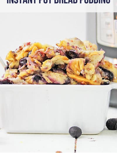 mixed berry Instant Pot bread pudding