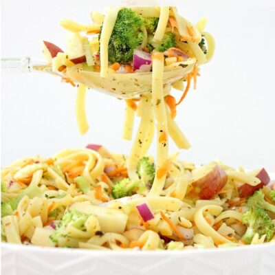 apple broccoli pasta salad