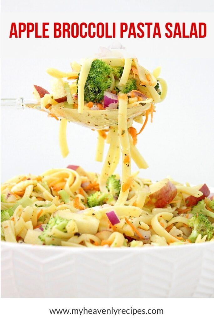 apple broccoli pasta salad