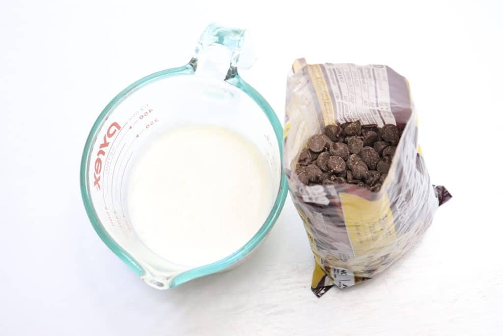 two ingredient chocolate ganache ingredients