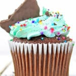 Mint Chocolate Cupcakes with Cookie Topping