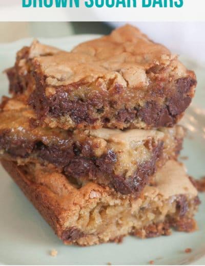 Brown Sugar Chocolate Chip Blondies Recipe