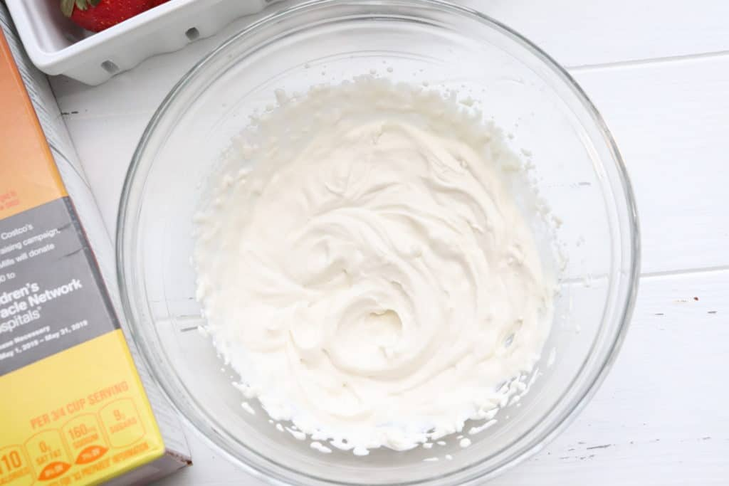 whipped cream for Cereal & Fruit Frozen Yogurt Parfait