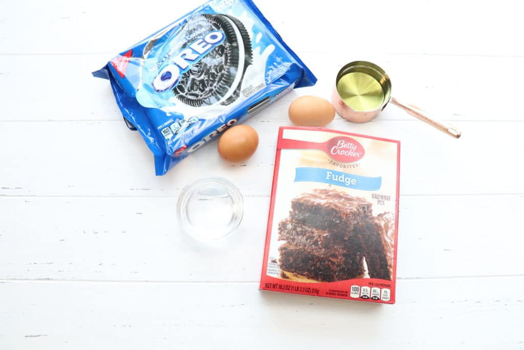 Chocolate Chip Oreo Brownies  ingredients