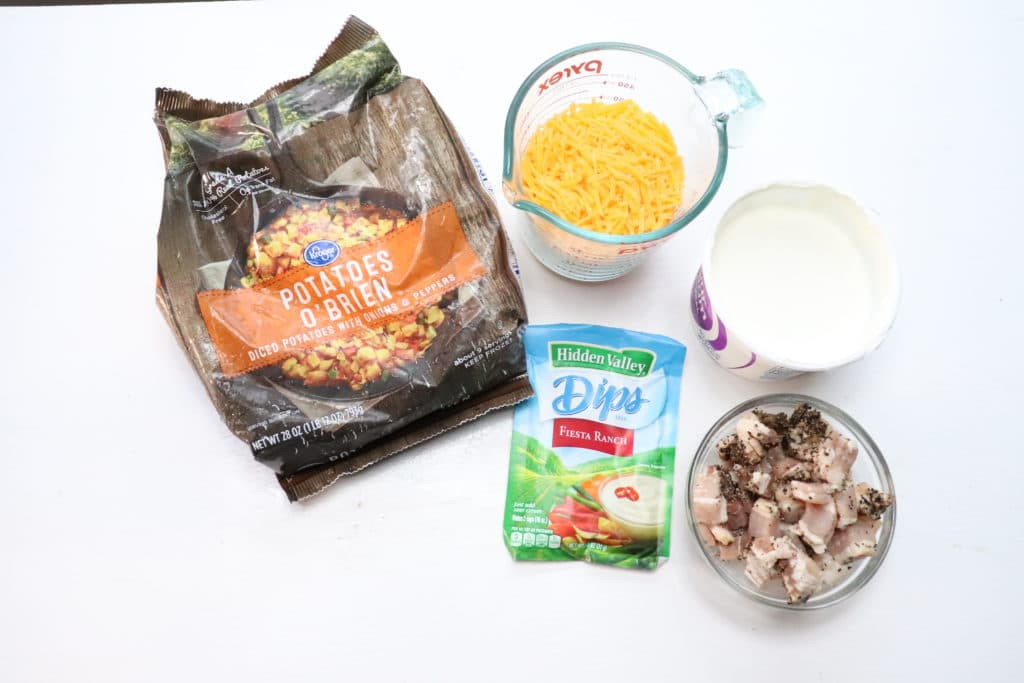 ingredients for cheesy ranch potatoes