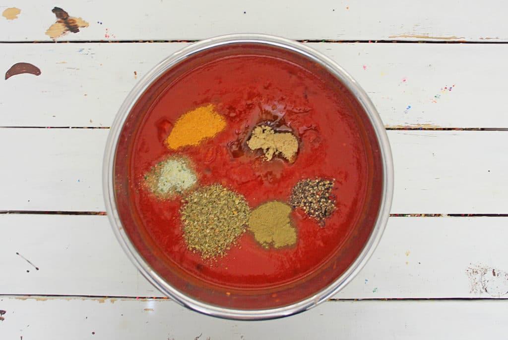 ingredients in instant pot