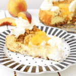 Peach Cheesecake Recipe with Cobbler Crumble