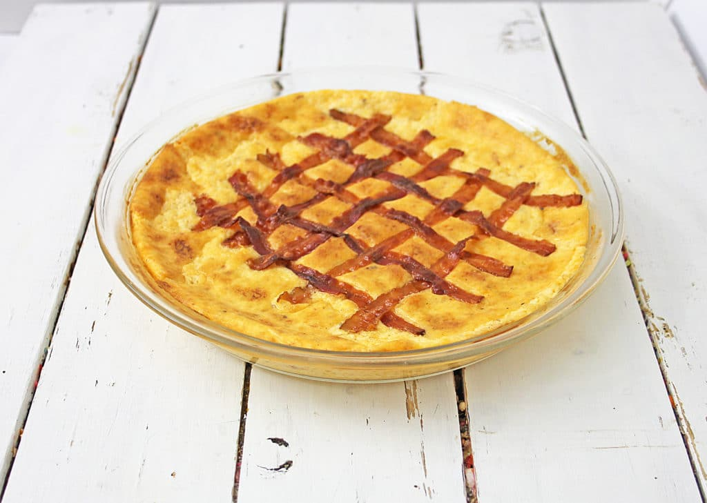 bacon lattice on top of dip