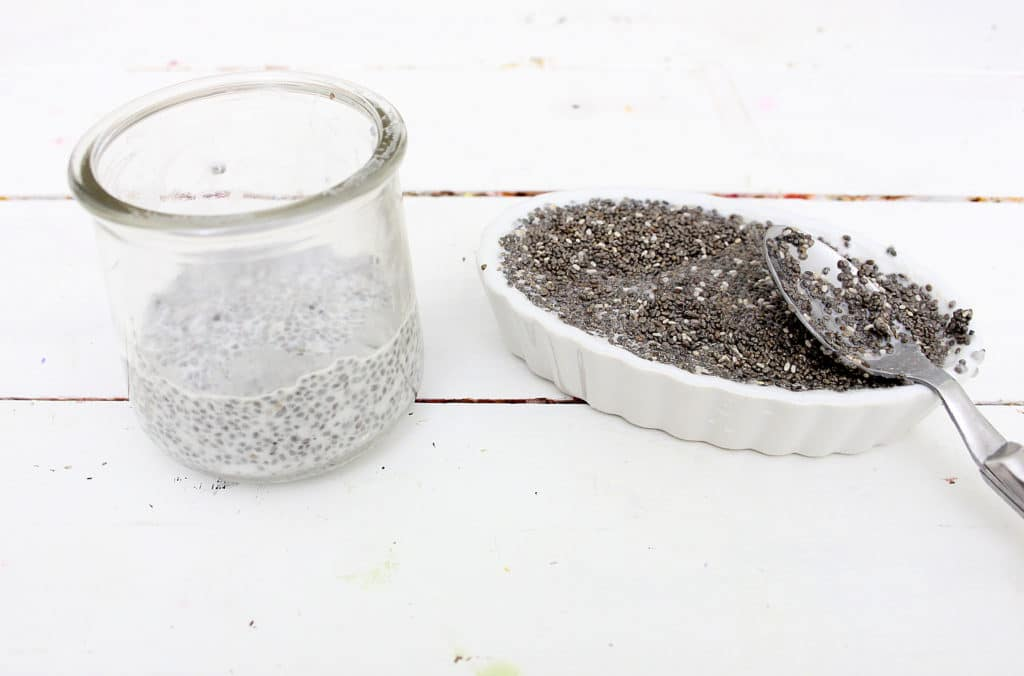 chia seed in half and half