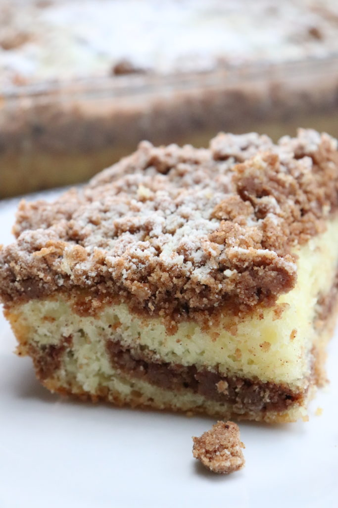 piece of cake  with crumb topping