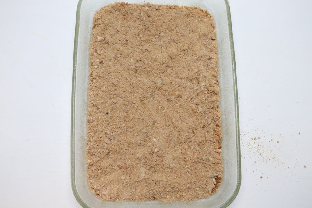 cinnamon sugar layer on top of coffee cake