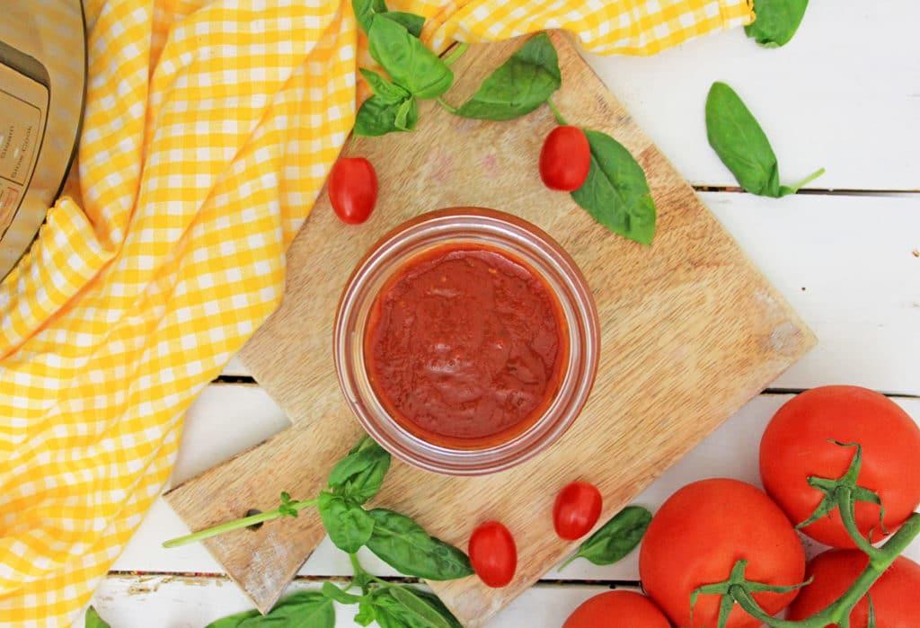 Instant pot spaghetti sauce in a bowl