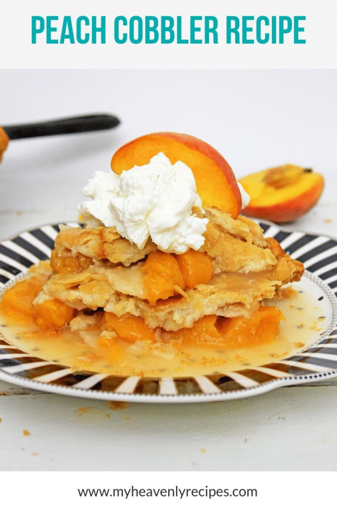 peach cobbler recipe for pinterest
