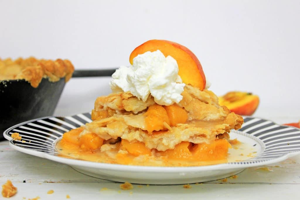piece of peach pie