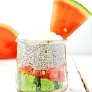 Watermelon Overnight Chia Pudding