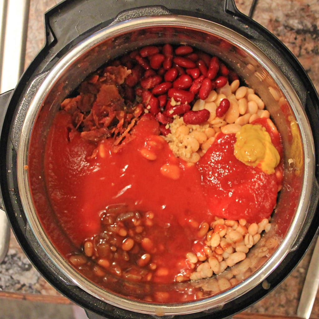 bean ingredients in the instant pot
