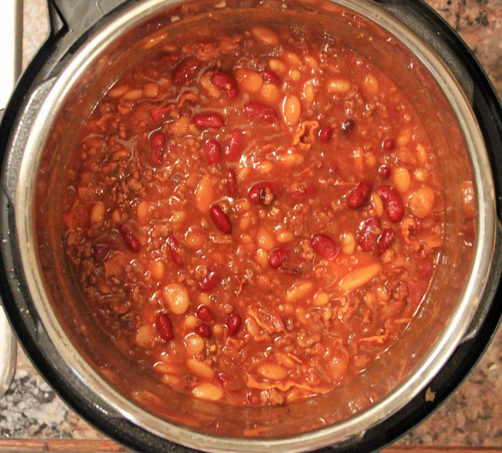 Instant Pot Baked Beans with Ground Beef