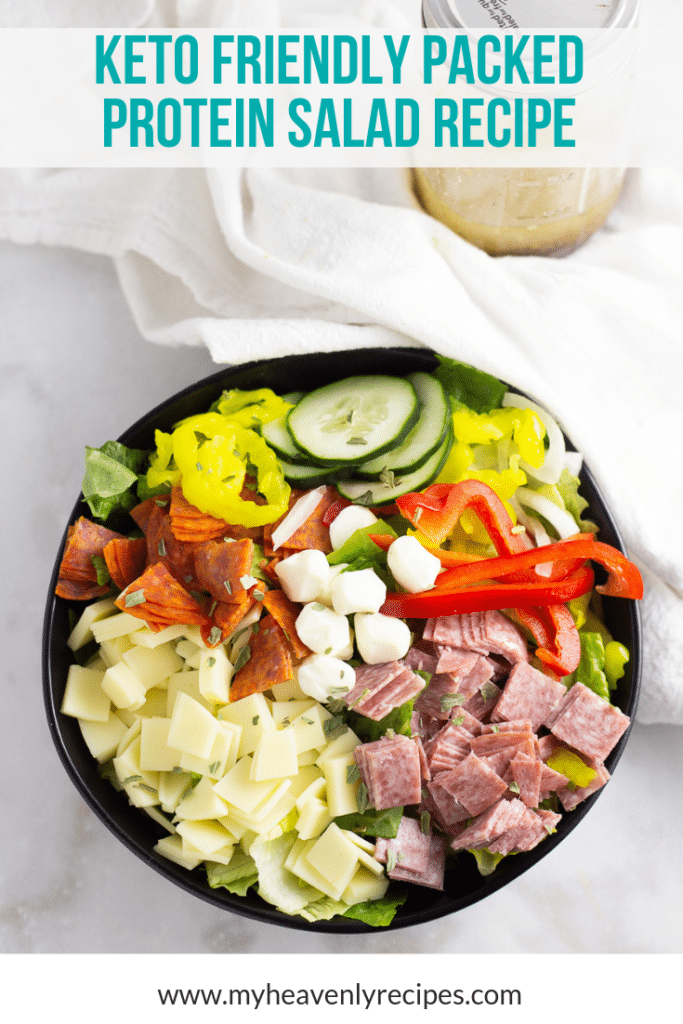 Keto Friendly Packed Protein Salad Recipe