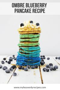 Ombre Blueberry Pancake Recipe