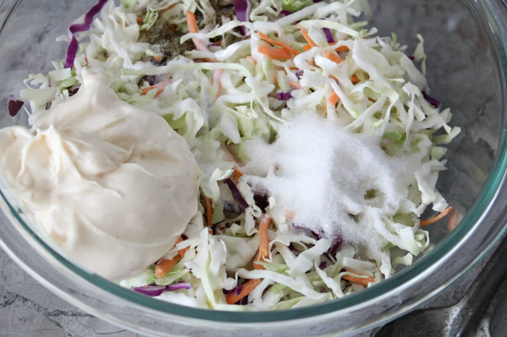 cole slaw with dressing ingredients