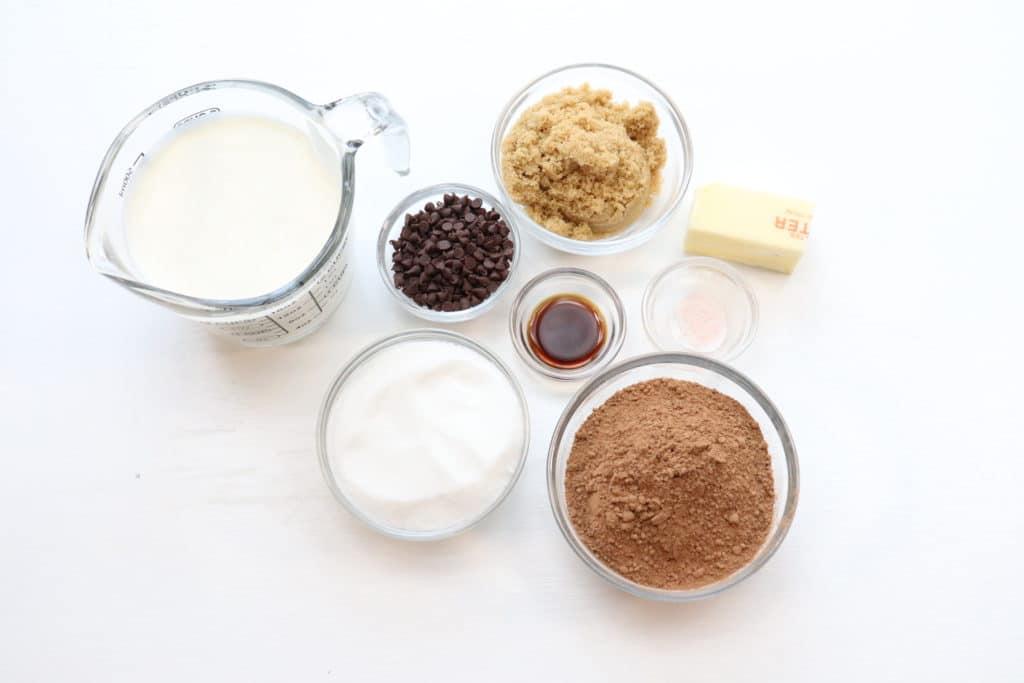 hot fudge ingredients