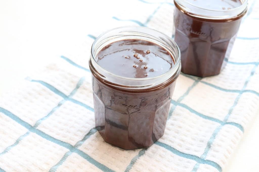 hot fudge in jars