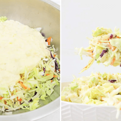 featured image for pineapple slaw with in process