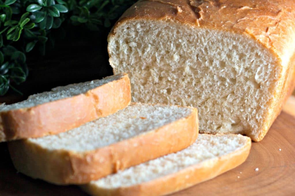 white bread cut slices