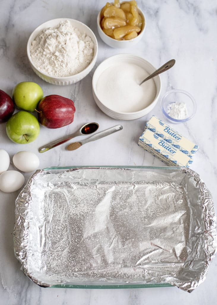line the pan with foil