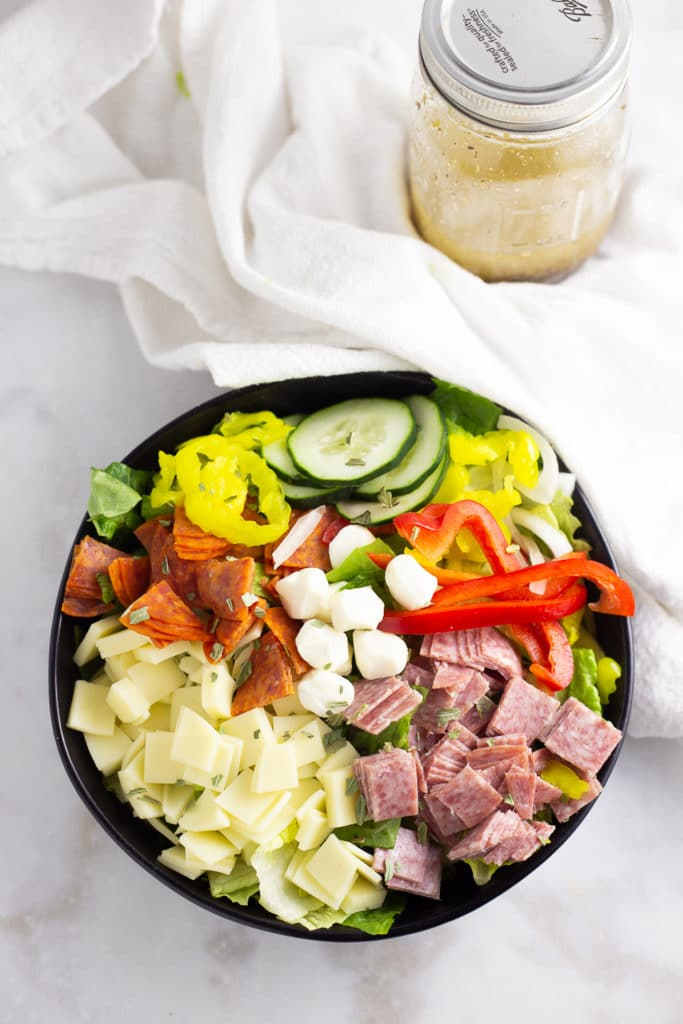 protein salad together