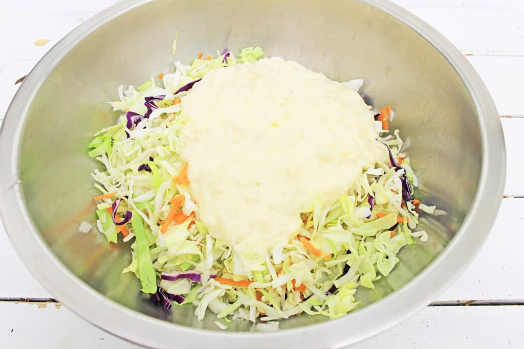 cole slaw in a bowl