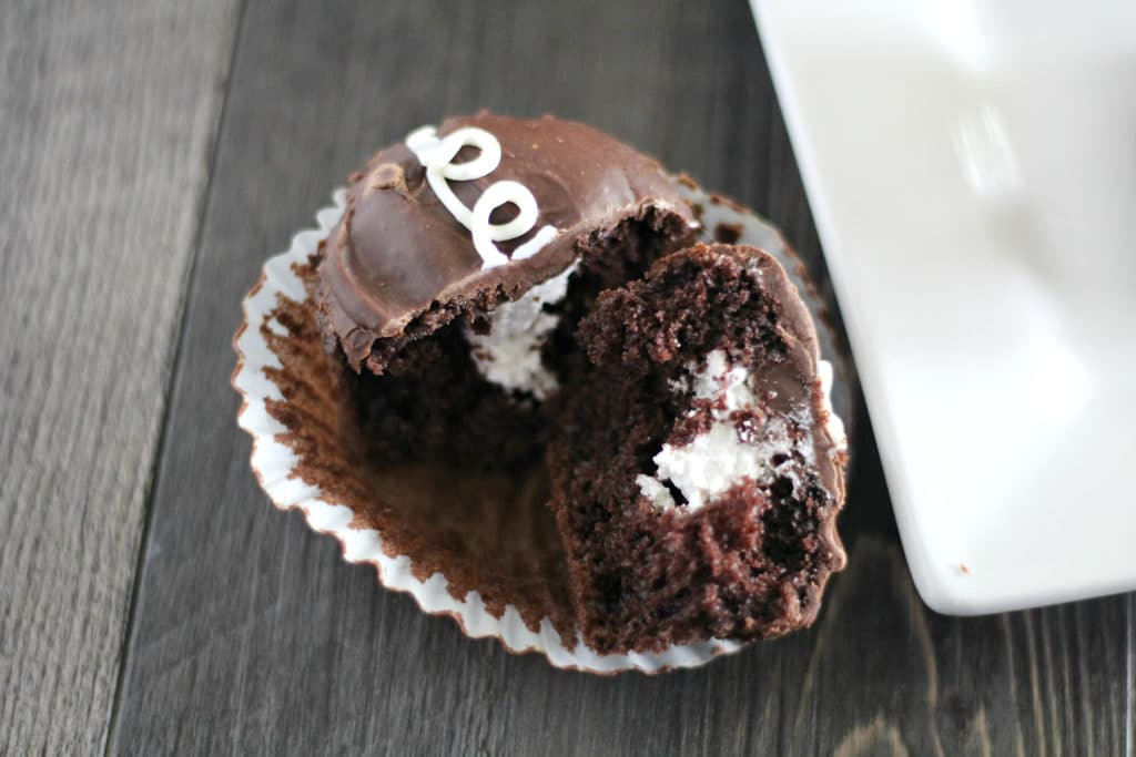 cream filled cupcake