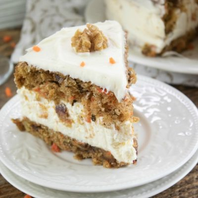 Carrot Cake with a Cheesecake Layer