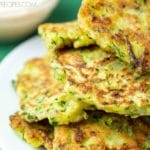 Zucchini Fritters Recipe with a Dipping Sauce