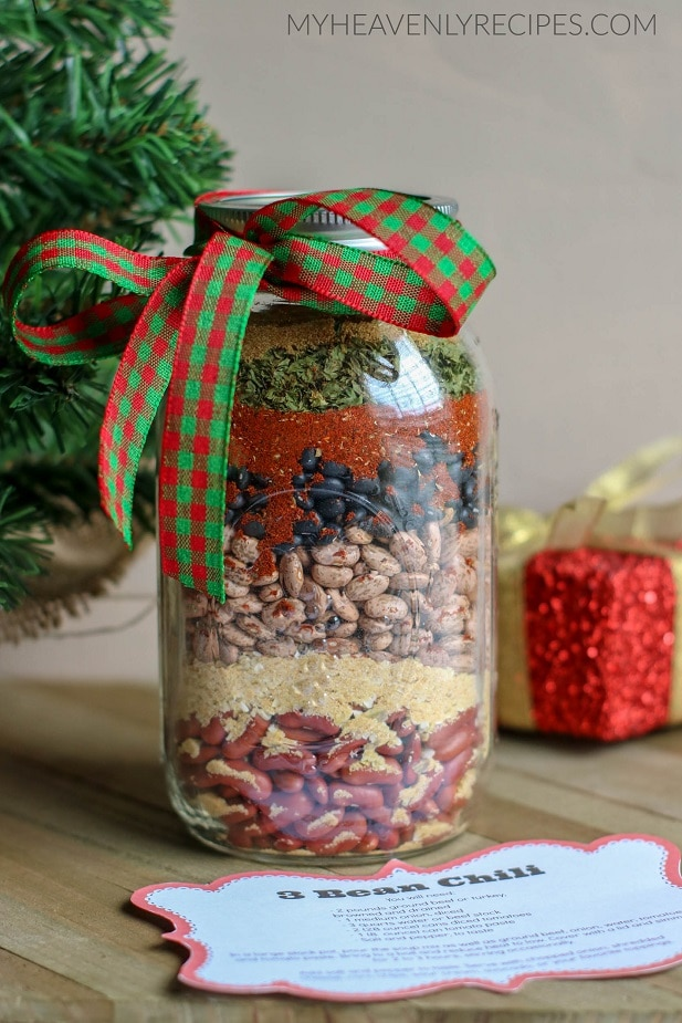 3 Bean Chili Gift In A Jar My Heavenly Recipes