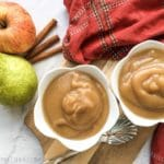 Instant Pot Cinnamon Pear Applesauce