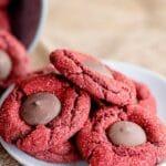 Red Velvet Cake Mix Blossom Cookies