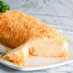 Carrot Shaped Cheeseball for Easter