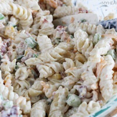 Cheddar Bacon Ranch Pasta Salad