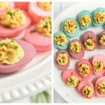 Colored Deviled Eggs for Easter