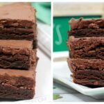 Fudgy Brownies with an Irish Whiskey Frosting
