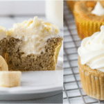 Banana Cream Cupcakes with Cream Cheese Filling