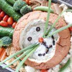 Spinach Dip Bunny Veggie Tray