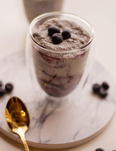 This Blueberry Chia Seed Pudding will be one of the healthiest desserts you've ever made.