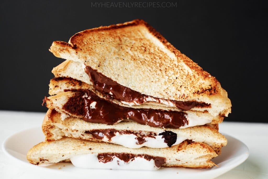 S Mores Grilled Cheese My Heavenly Recipes